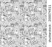 seamless doodle communication... | Shutterstock .eps vector #200074511