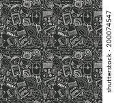 seamless doodle communication... | Shutterstock .eps vector #200074547