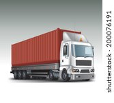 container at the dock with... | Shutterstock .eps vector #200076191