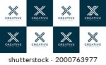 set of initials letter x... | Shutterstock .eps vector #2000763977