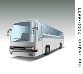 big white tour bus. vector... | Shutterstock .eps vector #200076611