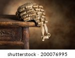 antique barrister's wig lying... | Shutterstock . vector #200076995