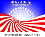 4th of july background | Shutterstock .eps vector #200077757