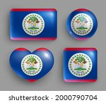 set of glossy buttons with... | Shutterstock .eps vector #2000790704