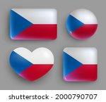 glossy buttons with czech... | Shutterstock .eps vector #2000790707