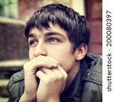 toned photo of sad teenager... | Shutterstock . vector #200080397
