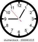 clock face vector | Shutterstock .eps vector #200081015