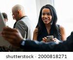 black businesswoman using a... | Shutterstock . vector #2000818271