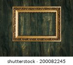 gold frame on a wooden... | Shutterstock . vector #200082245
