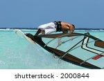 a freestyle windsurfer... | Shutterstock . vector #2000844