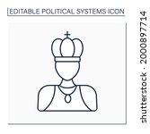 monarchy line icon. supreme...   Shutterstock .eps vector #2000897714