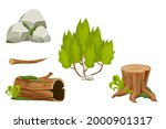 forest nature elements...