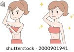 the before and after of a woman ... | Shutterstock .eps vector #2000901941