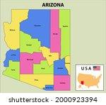 arizona map. district map of... | Shutterstock .eps vector #2000923394