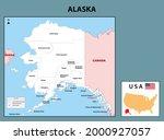 political map of alaska in... | Shutterstock .eps vector #2000927057