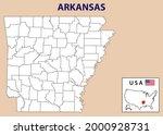 arkansas map. arkansas district ... | Shutterstock .eps vector #2000928731