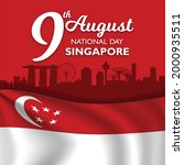 singapore national day banner... | Shutterstock .eps vector #2000935511