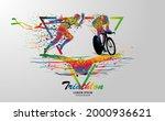 visual drawing logo swimming ... | Shutterstock .eps vector #2000936621