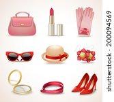 woman fashion stylish casual... | Shutterstock .eps vector #200094569