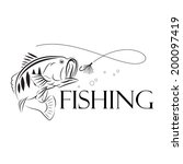 vector fishing design...   Shutterstock .eps vector #200097419