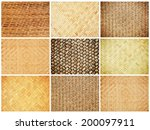 Wicker Texture Background Set