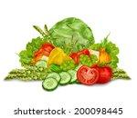 vegetable organic food mix... | Shutterstock .eps vector #200098445