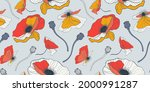 floral seamless pattern with... | Shutterstock .eps vector #2000991287