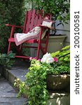 Colorful Rocking Chair In A...