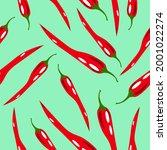 Seamless Pattern Of Hot Chili...