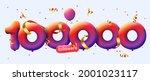 100000 followers thank you 3d... | Shutterstock .eps vector #2001023117