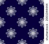 christmas mandala. snowflake... | Shutterstock .eps vector #2001044444
