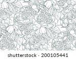 vintage floral seamless pattern ... | Shutterstock .eps vector #200105441