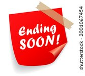 ending soon vector sign...   Shutterstock .eps vector #2001067454