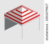 isometric market stall  tent.... | Shutterstock .eps vector #2001079817