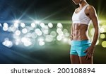 close up of sport woman in... | Shutterstock . vector #200108894