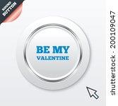 be my valentine sign icon. love ...
