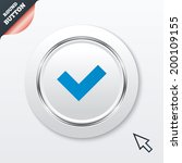 check sign icon. yes button....