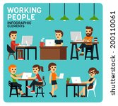 working people infographic... | Shutterstock .eps vector #200110061