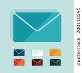 flat design  newsletter   Shutterstock .eps vector #200110295