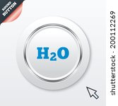 h2o water formula sign icon....