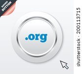 domain org sign icon. top level ...