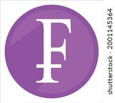 swiss frank icon. currency sign ...   Shutterstock .eps vector #2001145364