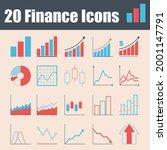 20 finance icons. vector graphs ...   Shutterstock .eps vector #2001147791