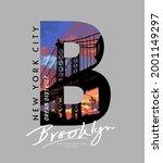 Brooklyn Calligraphy Slogan...