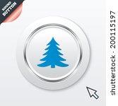 christmas tree sign icon....