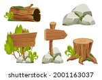 forest nature elements...   Shutterstock .eps vector #2001163037