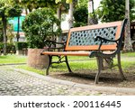 bench in the park in chiangmai  ...   Shutterstock . vector #200116445