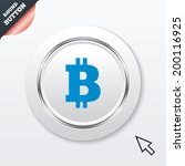 bitcoin sign icon. cryptography ...