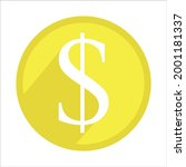 yellow us dollar sign. currency ...   Shutterstock .eps vector #2001181337