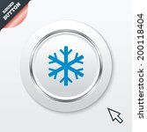 snowflake sign icon. air...